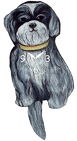 Shih Tzu Wagging Tail Clock www.SaltyPaws.com
