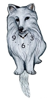American Eskimo Wagging Tail Clock www.SaltyPaws.com
