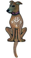 Greyhound Wagging Tail Clock www.SaltyPaws.com