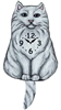 Persian Cat Wagging Tail Clock www.SaltyPaws.com