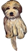 Wheaten Terrier Wagging Tail Clock www.SaltyPaws.com