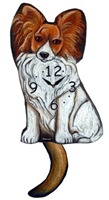 Papillon Wagging Tail Clock www.SaltyPaws.com