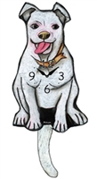 Pit Bull Wagging Tail Clock www.SaltyPaws.com