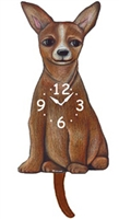 Chihuahua Wagging Tail Clock www.SaltyPaws.com