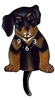 Rottweiler Wagging Tail Clock www.SaltyPaws.com