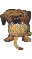 Pekingese Wagging Tail Clock www.SaltyPaws.com