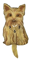 Yorkie Wagging Tail Clock www.SaltyPaws.com