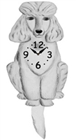 Poodle Wagging Tail Clock www.SaltyPaws.com