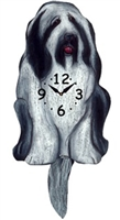 Old English Sheepdog Wagging Tail Clock www.SaltyPaws.com