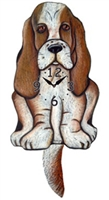 Basset Hound Wagging Tail Clock www.SaltyPaws.com