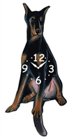 Doberman Pinscher Wagging Tail Clock www.SaltyPaws.com