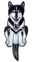 Husky Wagging Tail Clock www.SaltyPaws.com