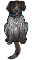 German Shorthaired Pointer Wagging Tail Clock www.SaltyPaws.com