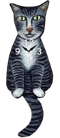 Tabby Cat Wagging Tail Clock www.SaltyPaws.com