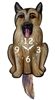 German Shepherd Wagging Tail Clock www.SaltyPaws.com