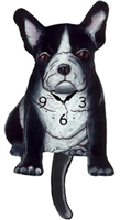 French Bulldog Wagging Tail Clock www.SaltyPaws.com