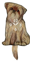Brussels Griffon Wagging Tail Clock www.SaltyPaws.com