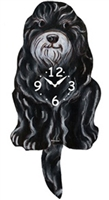 Schnoodle Wagging Tail Clock www.SaltyPaws.com