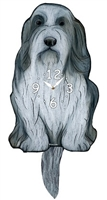 Bearded Collie Wagging Tail Clock www.SaltyPaws.com