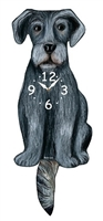 Irish Wolfhound Wagging Tail Clock www.SaltyPaws.com