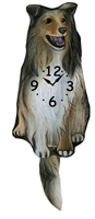 Collie Wagging Tail Clock www.SaltyPaws.com