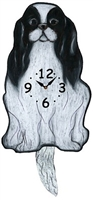 Japanese Chin Wagging Tail Clock www.SaltyPaws.com