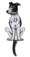 Whippet Wagging Tail Clock www.SaltyPaws.com