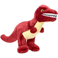 Fluff Tuff Tiny T-Rex Dog Toy Tuff Toy for Dogs www.SaltyPaws.com Dinosaur