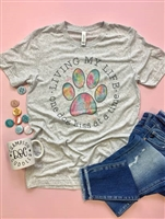 "Tee""Living My Life One Dog Kiss At A Time"" T Shirt"