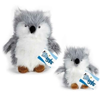 Plush Arctic Buddies Owl With Squeaker Dog Toy at SaltyPaws.com