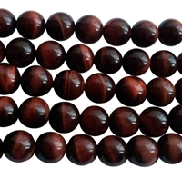 red tiger eye round beads string - 10mm
