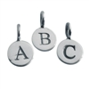 Sterling silver letter charm round