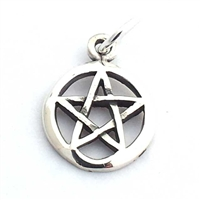 silver pentacle charm
