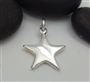 sterling silver puffy star charm