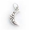 silver celtic moon