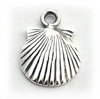 silver shell charm