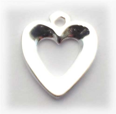 8mm open heart charm