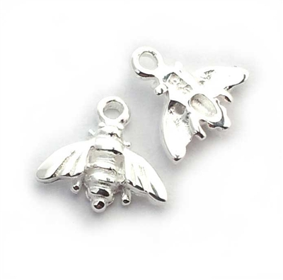 bee charm st. silver