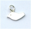 Solid Silver Bird Charm - stampable