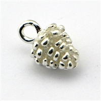 fir cone Sterling silver Charm