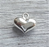 10mm sterling silver puffy heart charm