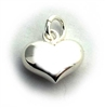 14mm puff heart charm st. silver