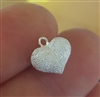 10mm stardust sterling silver puff heart