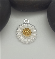 sterling silver daisy flower charm