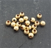 2.5mm gold filled bead (20)