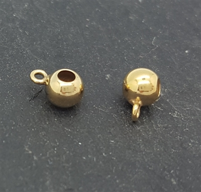 4mm gold filled bead with ring