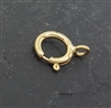 6mm gold filled spring ring closed ring