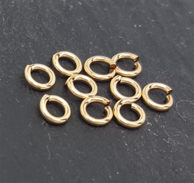 3mm click and lock jump rings gold filled (10)