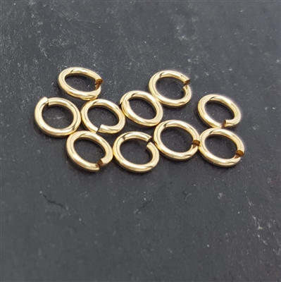 5mm click and lock jump rings gold filled 10)