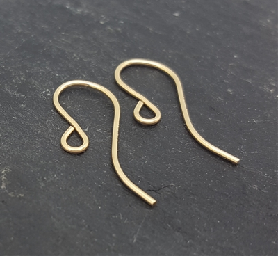 hook earwires gold filled  (1 pr.)